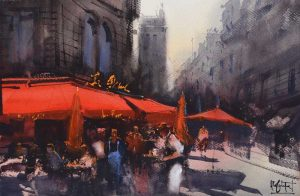 Alvaro, Castagnet , Alvaro at IWM2021, Alvaro, Masters at IWM2021, Watercolor, Watercolour, IMWA , watercolour alliance, Alliance