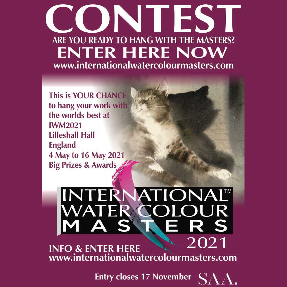 IWM2021, Contest, International watercolour masters contest, enter now.