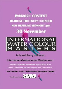 Masters, IWM, IWM2021,iwm, watercolor, watercolour, contest, competition, imwa, Aquarelle , Painting competition, Elie, The masters.,Watercolour Alliance. David Poxon, Alvaro, Castagnet, Fabio Cembranellie, Keiko, Tanabe, Janine, Veneta Docheva, eudes, Correia, Winsor & Newton, RI, Mall GHalleries. Gallery, Lilleshall, Hall,