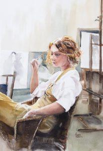 Agnes Geets IWM, International Masters, Lilleshall Hall, Watercolor, National sports, #IWM2022