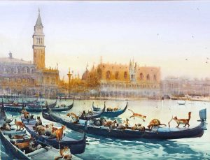 Eugeniu Gorean at IWM2022 International Watercolour Masters. The worlds best artists at IWM.