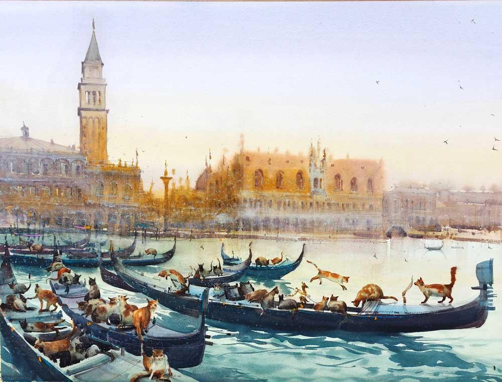 Eugeniu Gorean at IWM2022 International Watercolour Masters. The worlds best artists at IWM.