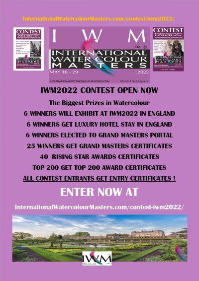 IWM 2022 Contest , Big Awards , major event Alvaro, Eudes, Fabio, David, IWM, IWS,IMWA, greece 5, AWS, NWS, RI, Enter now. The elite Masters, Lilleshall Hall, SAA.